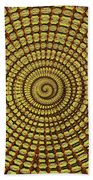 Saguaro Cactus Top Abstract #4 Bath Towel