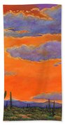 Saguaro Sunset Hand Towel by Johnathan Harris