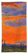 Saguaro Sunset Bath Towel by Johnathan Harris