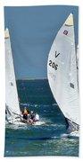 Sailboat Championship Racing 5 Bath Towel