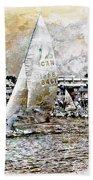 Sailing Boat, Nautical,yachts, Seascape Bath Towel