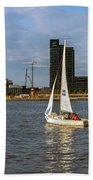 Sailing Downtown Bath Towel