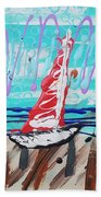 Sailing The Coast Abstract Bath Towel