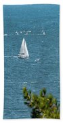 Sailing The Sea Of Marmara Bath Towel