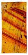 Sailing Through Gold Bath Towel