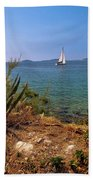 Sailing Waterfront Of Prvic Island View Bath Towel