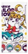 Sailor Meow Bath Towel