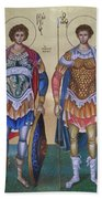 Saint George And Saint Dimitrios Bath Towel