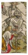 Saint John On The Island Of Patmos Receives Inspiration From God To Create The Apocalypse Bath Towel