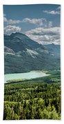 Saint Mary Lake Panorama Bath Towel