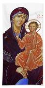 Saint Mary With Baby Jesus Bath Towel
