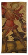 Saint Michael And The Dragon Bath Towel