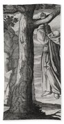 Saint Victorinus Does Penance Hand Towel