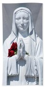 Saint Virgin Mary Statue #1 Bath Towel