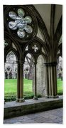 Salisbury Cathedral Cloisters Bath Towel