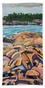 Salmon Rocks Bath Towel