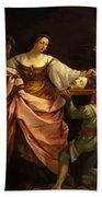 Salome With The Head Of St John Baptist 1640 Bath Towel