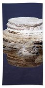 salt cristal at the Dead Sea Israel  Bath Towel