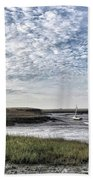 Salt Marsh And Creek, Brancaster Bath Towel