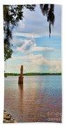 Salt Mine Disactor Monument Jefferson Island Louisiana  Bath Towel