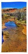 Salt Wash Near Wolf Ranch Arches Np Moab Utah Bath Towel