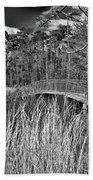 Sam Houston Jones State Park Bridge Bw Bath Towel