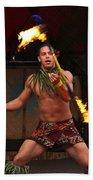 Samoan Fire Dance Bath Towel
