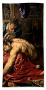 Samson And Delilah Bath Towel