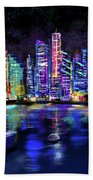 San Diego Harbor Bath Towel
