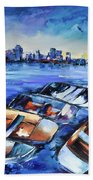 San Diego Skyline Bath Towel