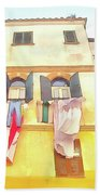 San Felice Circeo Building With The Put Clothes Hand Towel