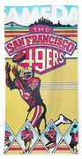 San Francisco 49ers Vintage Program Bath Towel