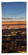 San Francisco Bay Early Morning Glow  Bath Towel