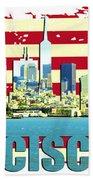 San Francisco California Hand Towel