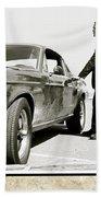 San Francisco Museum Of Art, Frank Bullitt, Steve Mcqueen, Ford Mustang Gt 390, Fastback Bath Towel
