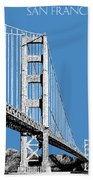 San Francisco Skyline Golden Gate Bridge 2 - Slate Blue Bath Towel