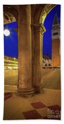 San Marco At Night Bath Towel