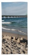 Sand Castles And Piers Bath Towel