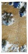 Sand Dune With Snow Bath Towel