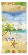 Sand Sea Sunshine On Tropical Beach Shores Bath Towel
