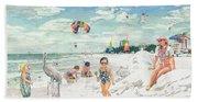 Sandcastles On Siesta Key Public Beach Hand Towel