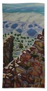 Looking Down From The Sandia Mountains Hand Towel