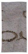 Sandscript - I Love You Bath Towel