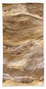 Sandstone Formation Number 3 At Starved Rock State Bath Towel