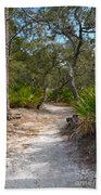 Sandy Path In Hunting Island South Carolina Bath Towel