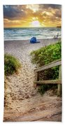 Sandy Walk Down To The Beach Bath Towel