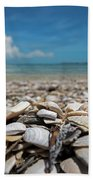 Sanibel Island Sea Shell Fort Myers Florida Broken Shells Bath Towel