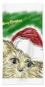 Santa Cat Hand Towel