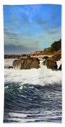 Santa Cruz Coastline Bath Towel