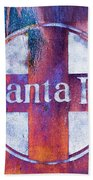 Santa Fe Rr Bath Towel by Lou Novick